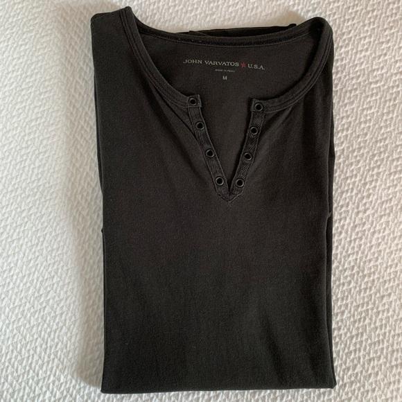 John Varvatos Star USA Men/'s Eyelet Henley Shirt Choose SZ//color